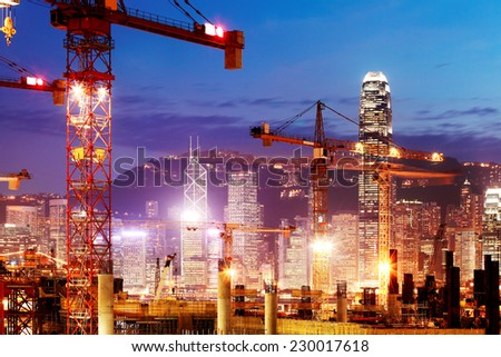 Under Construction Construction works of the Hong Kong section of Guangzhou Shenzhen Hong Kong express rail link - stock photo