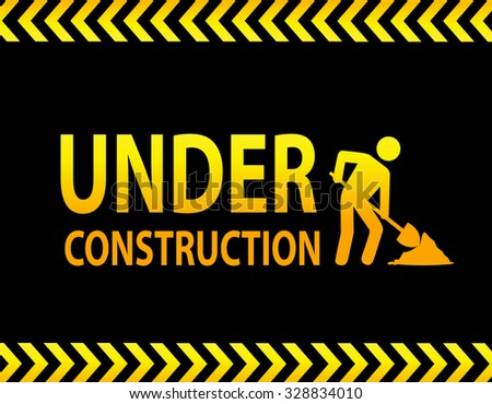 Under construction landing page - stock photo