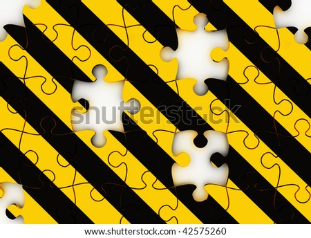 Under Construction puzzle - stock photo
