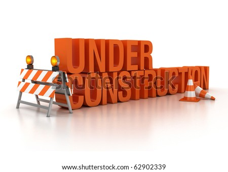 under construction sign 3d illustration - stock photo
