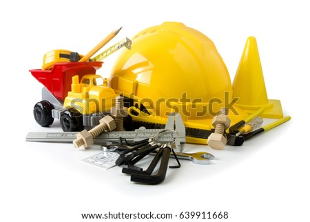 under construction tool isolated