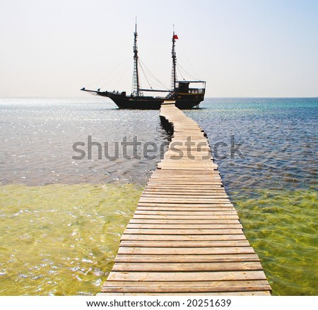 Under Jolly Roger - stock photo