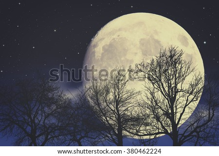 Under Moon light, abstract fantasy backgrounds - stock photo