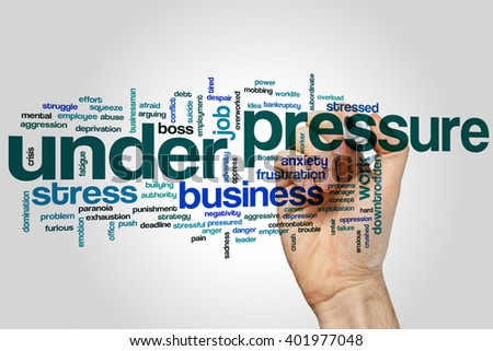 Under pressure concept word cloud background - stock photo