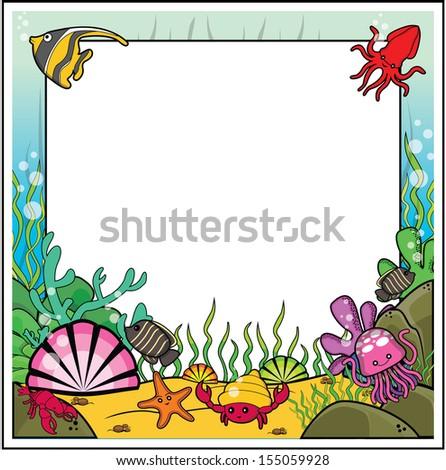 under sea frame  - stock photo