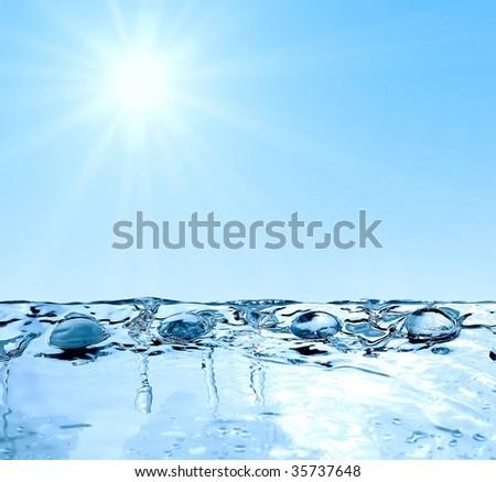 under sun - stock photo