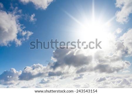 Under Sun Background of Blue  - stock photo