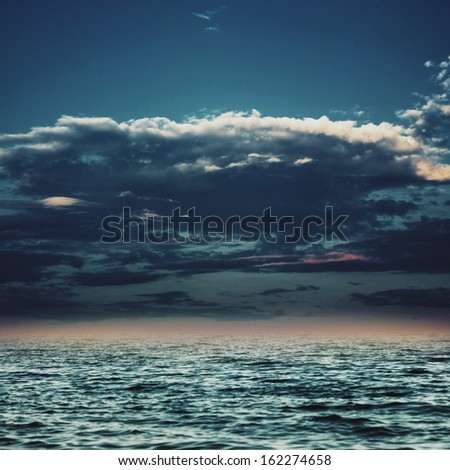 Under the blue skies, abstract marine backgrounds for your design - stock photo