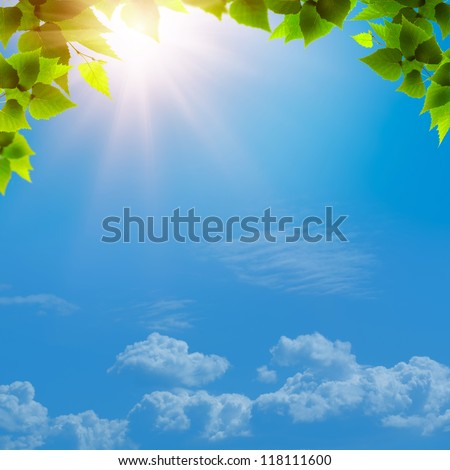 Under the blue skies. Abstract natural backgrounds for your design - stock photo