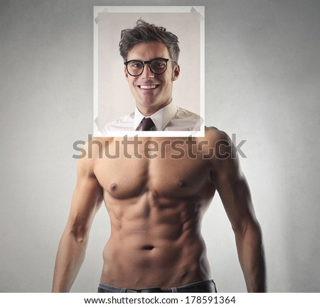 under the shirt - stock photo