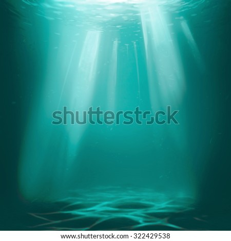 under water background - stock photo