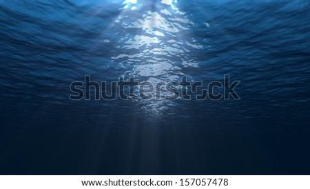 Under water scene - stock photo