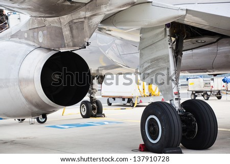 undercarriage of an airplane