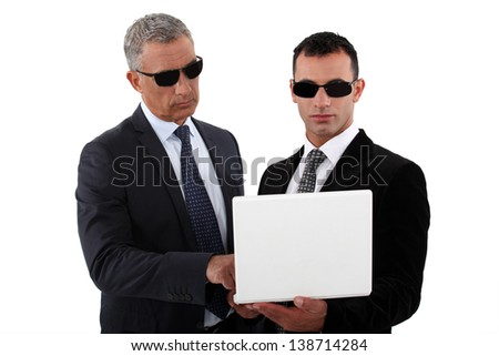 Undercover agents - stock photo
