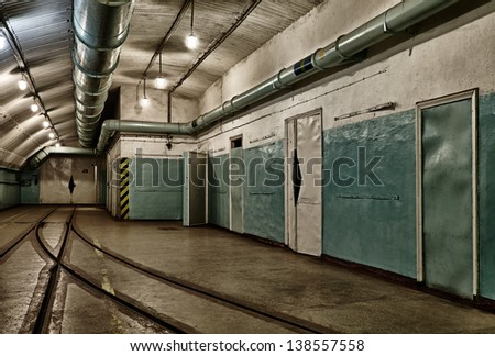 Underground bunker from cold war. Ukraine, Sevastopol - stock photo