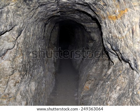 Underground cave - stock photo