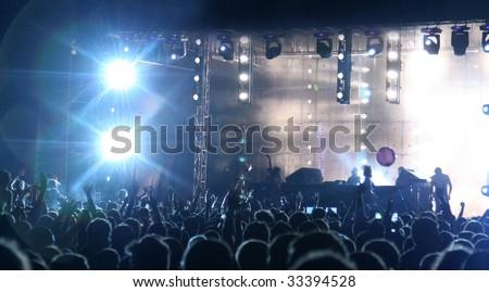 underground club - stock photo