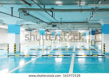 Underground parking - stock photo