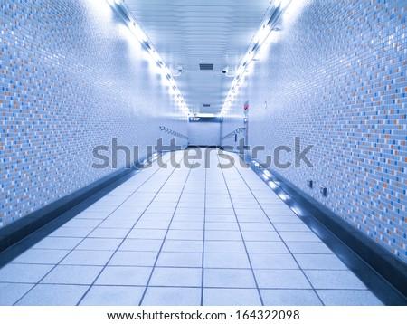 underground passage - stock photo