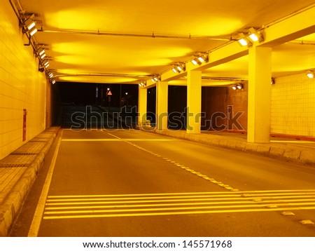 underground passage in midnight - stock photo