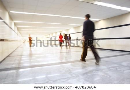 Underground passge of modern city - stock photo