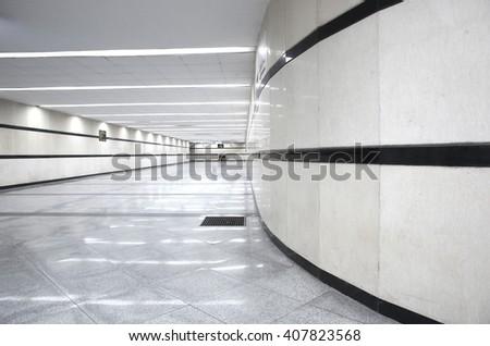 Underground pedestrian tunnel - stock photo