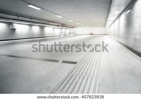 Underground tunnel - stock photo