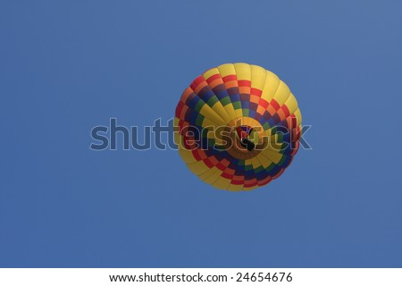 Underneath view of a hot air balloon - stock photo