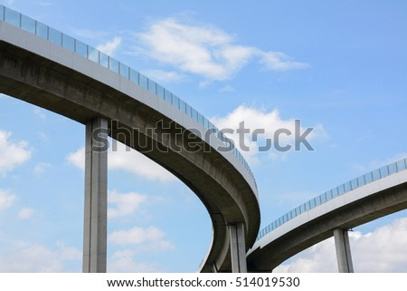 Underside of an elevated roads/second turn