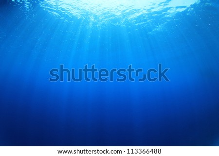 Underwater abstract blue background - stock photo