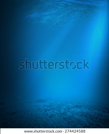 Underwater background  - stock photo