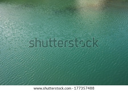 Underwater Background of Water Waves from below the surface - stock photo
