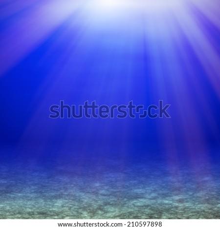 Underwater light - stock photo