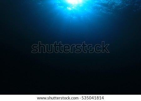 Underwater ocean blue background photo