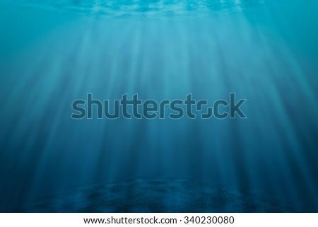 Underwater scene Abstract background  - stock photo