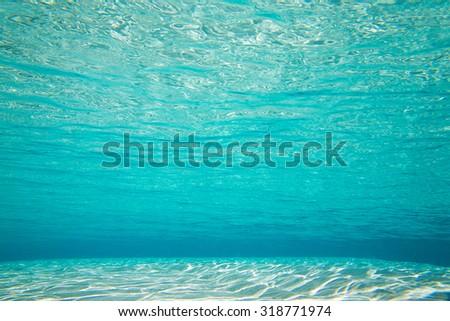 Underwater shoot of an infinite sandy sea - stock photo