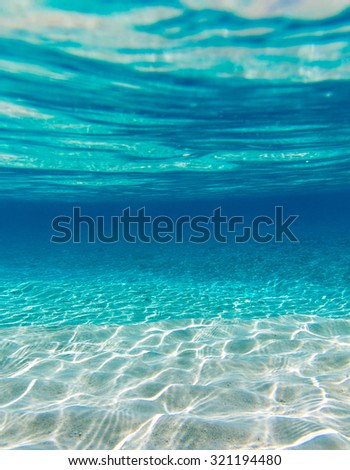 Underwater shoot of an infinite sandy sea - stock photo