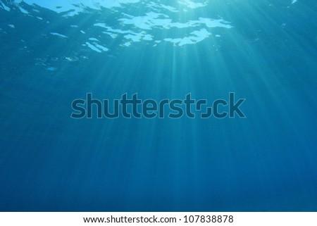 Underwater Sunshine background image - stock photo
