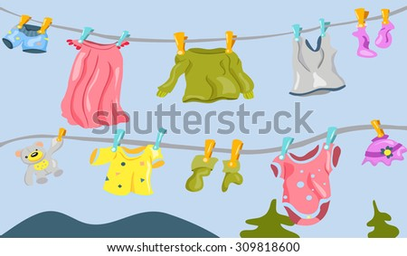 underwear on the clothesline - stock photo
