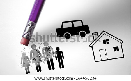 Unemployment and economic crisis conducive to family crisis - stock photo