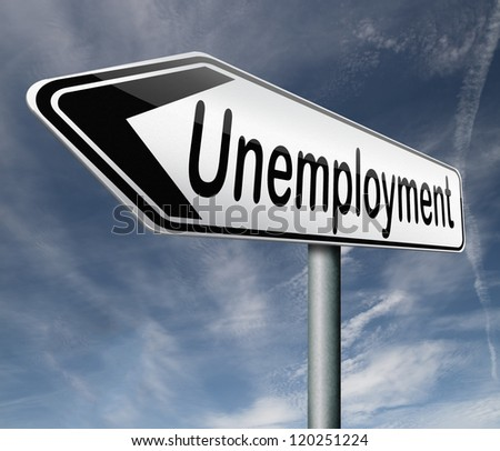 unemployment rate lose job loss joblessness jobloss caused by recession - stock photo
