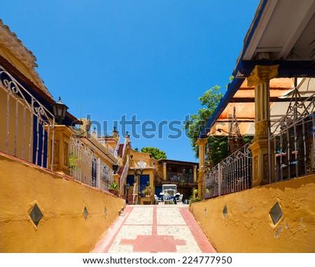 UNESCO Caribbean Cuba Trinidad architectures - stock photo