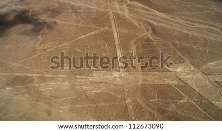 Unesco Heritage: Lines and Geoglyphs of Nazca, Peru - Perlican - stock photo