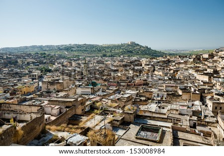 Unesco heritage medina of the Fes, Morocco - stock photo