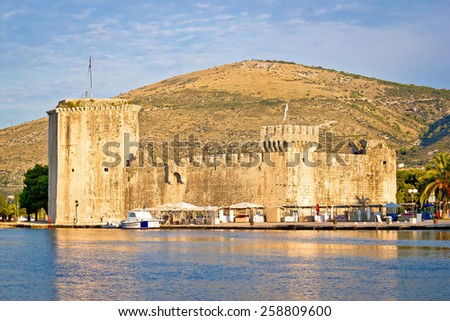 UNESCO town of Trogir waterfront, Dalmatia, Croatia - stock photo