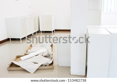 Unfinished home interior - stock photo