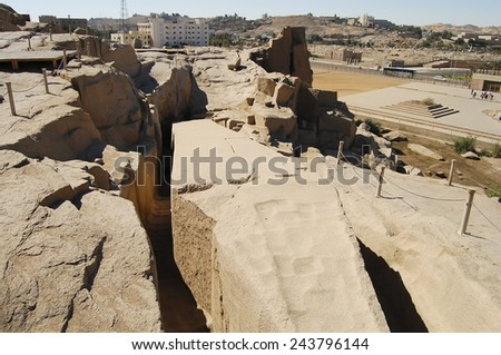 Unfinished Obelisk - Aswan - Egypt - stock photo