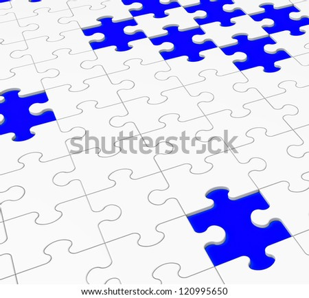 Unfinished Puzzle Showing Assembling, Completing And Finishing