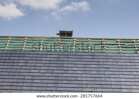 Unfinished roof - stock photo