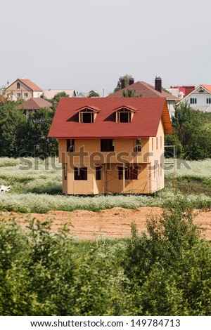 Unfinished wooden house